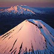 Mt Ngauruhoe And Mt Ruapehu Poster