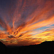 Mt Ord Sunset Arizona Poster