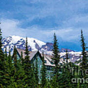 Mt Rainier And Paradise Inn Poster