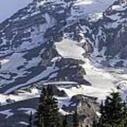 Mt Rainier Portrait Poster