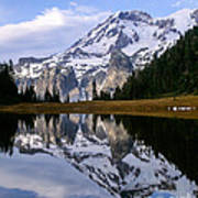 Mt. Rainier On Aurora Lake Poster