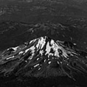 Mt Shasta Black And White Poster