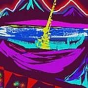 Mt. Shasta Moonlight Poster