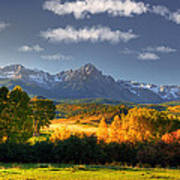 Mt Sneffels And The Dallas Divide Poster by Ken Smith