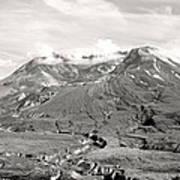 Mt St Helen's Poster