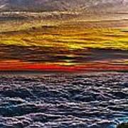 Mt Wilson Sunset Poster