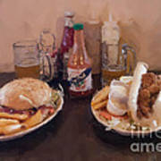 Muffaletta And Po-boy Poster by Kay Pickens