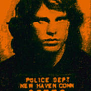 Mugshot Jim Morrison Poster by Wingsdomain Art and Photography