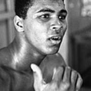 Muhammad Ali Intently Poster