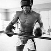 Muhammad Ali Training Inside Ring Poster