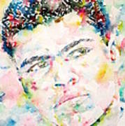 Muhammad Ali - Watercolor Portrait.1 Poster
