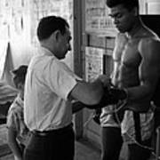 Muhammad Ali With Trainer Poster