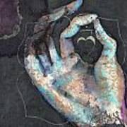 Muladhara - Root 'blue Hand' Chakra Mudra Poster
