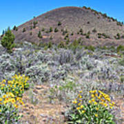 Mule's Ears And Schonchin Butte In Lava Beds Nmon-ca Poster