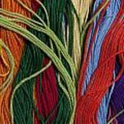 Multicolored Embroidery Thread Mixed Up  Poster