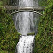 Multnomah Falls Bridge Poster