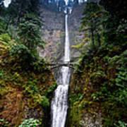 Multnomah Falls Oregon State Waterfall Poster