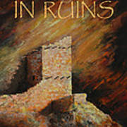 Mummy Cave Ruins II Greeting Card Poster