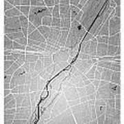 Munich Street Map - Munich Germany Road Map Art On Colored Backg Poster