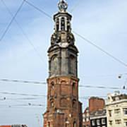 Munttoren In Amsterdam Poster