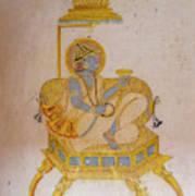 Mural Mehrangarh Fort 10th Century Poster
