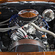 Muscle Car Engine Poster
