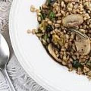 Mushroom Barley Meal Poster