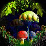 Mushroom Town Poster