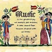 Music Fraktur Poster