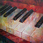 Music Is The Key - Painting Of A Keyboard Poster