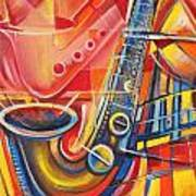 Musical Abstract Poster