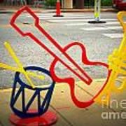 Musical Instruments Bike Rack Poster