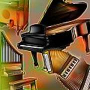 Musical Instruments With Keyboards Poster