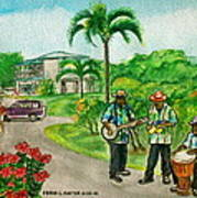 Musicians On Island Of Grenada Poster