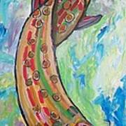 Muskie Poster by Krista Ouellette