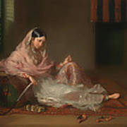 Muslim Lady Reclining Poster