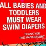 Must Wear Swim Diapers Poster