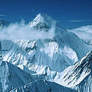 Mustagh Tower At Center And Masherbrum Poster