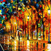 My Best Friend - Palette Knife Oil Painting On Canvas By Leonid Afremov Poster