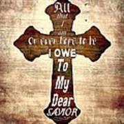 My Dear Savior Poster by Michelle Greene Wheeler