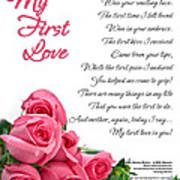 My First Love Poetry Art  Poster