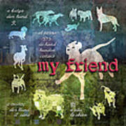 My Friend Dogs Poster by Evie Cook