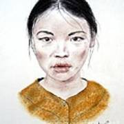 My Kuiama A Young Vietnamese Girl  Poster by Jim Fitzpatrick