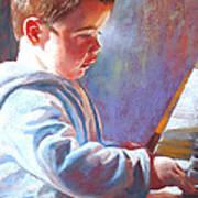 My Little Mozart Poster by Lynda Robinson