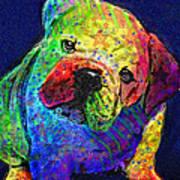 My Psychedelic Bulldog Poster