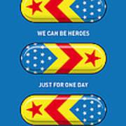 My Superhero Pills - Wonder Woman Poster