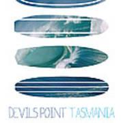 My Surfspots Poster-5-devils-point-tasmania Poster by Chungkong Art