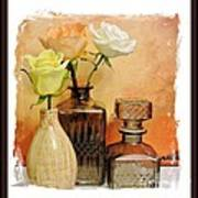 My Three Roses Still Life Poster