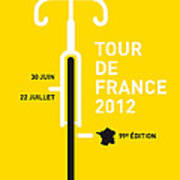 My Tour De France 2012 Minimal Poster Poster by Chungkong Art