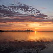 My World This Morning - Toronto Skyline At Sunrise Poster